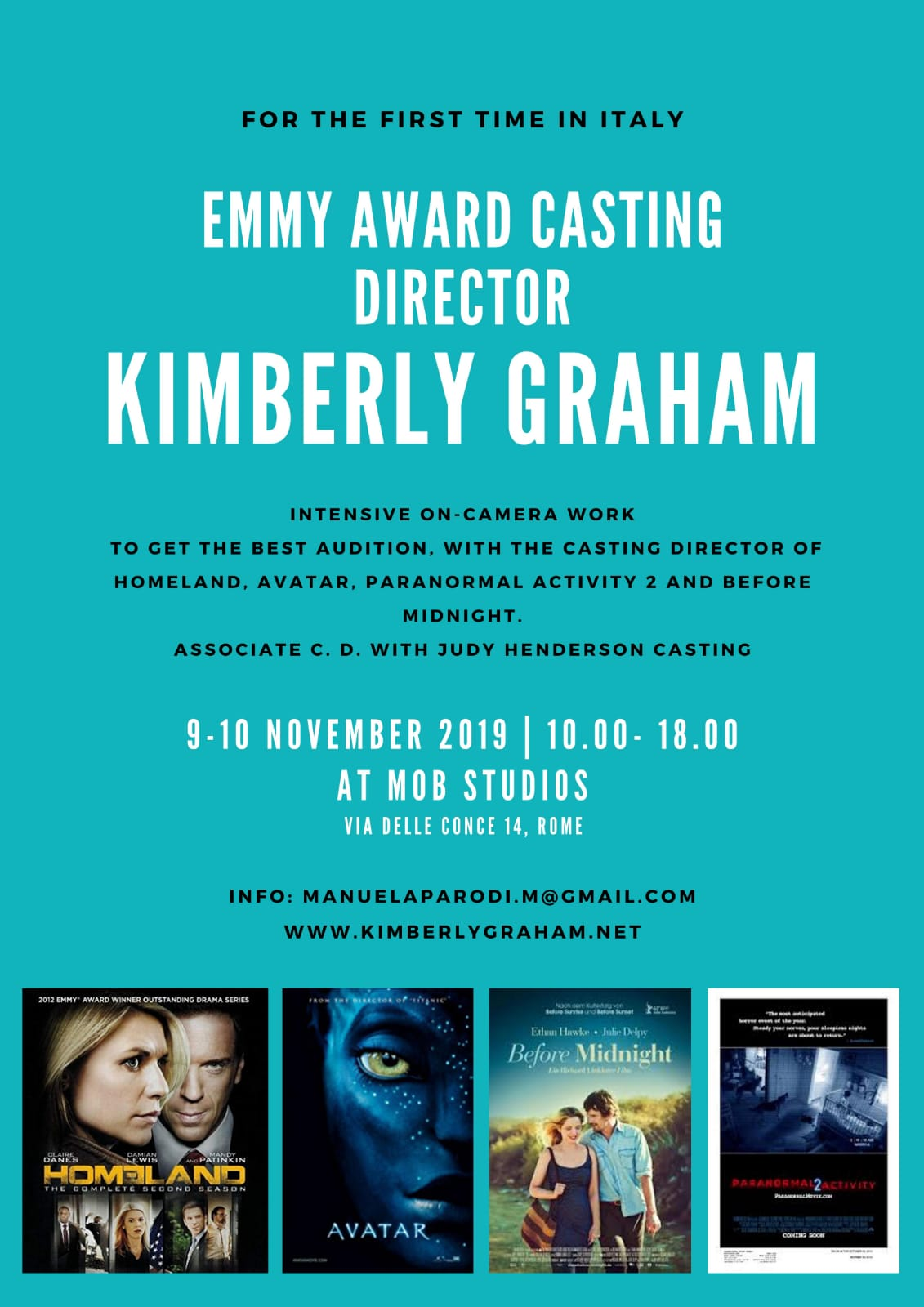 Workshop con Casting Director Kimberly Graham